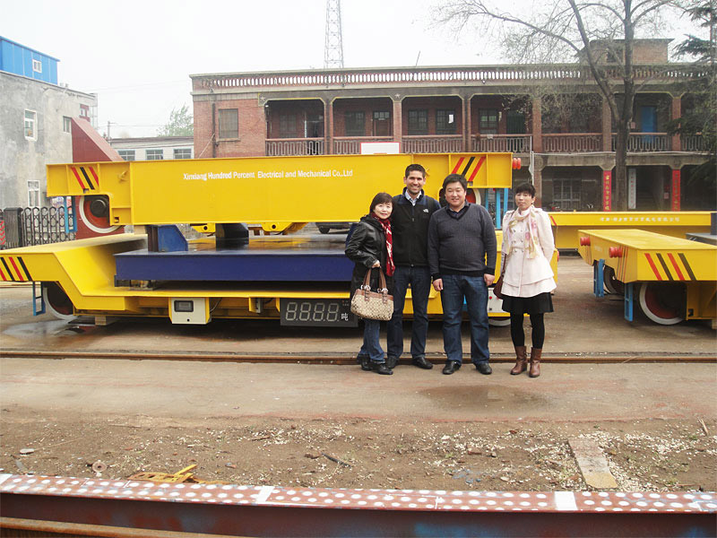 Cable reel powered rail cart