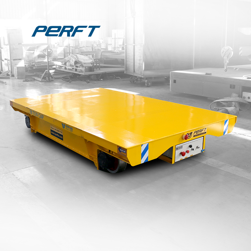 10 ton factory material transport trackless transfer flat cart