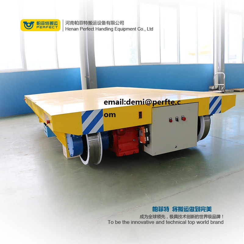 Motorized Rail Transfer Cart , Material Transfer Cart , Steel Mill Applied Electric Transport Wagon