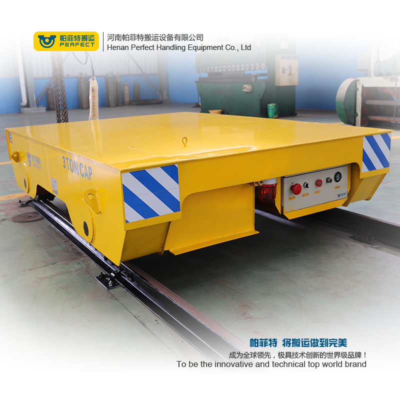 100T Motorized Transfer Cart , Motorized Transfer Cart For Industrial Cargo
