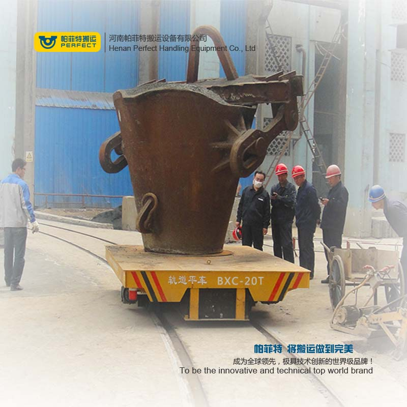 Steel Plant Ladle Transfer Car , ladle transfer cart with Anti-High Temperature and Flexible Operation