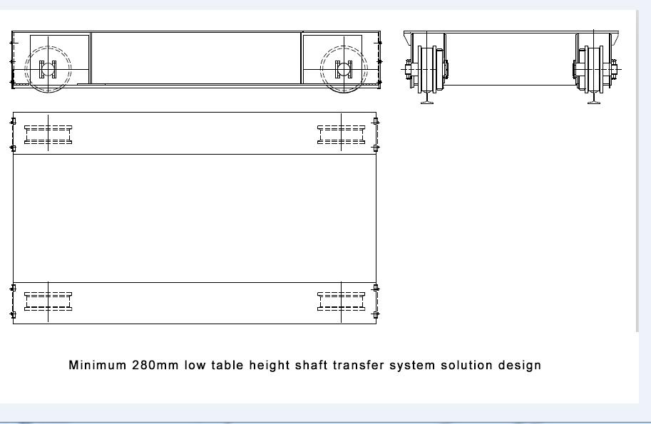 low table height transfer system,shaft transfer system