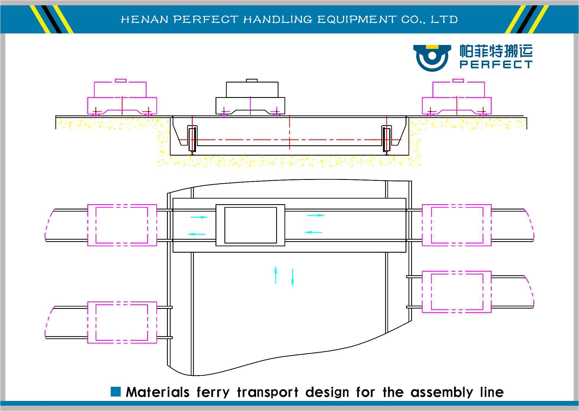 ferry transport cart for assembly line,steel tubes ferry cart